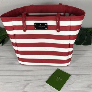 Kate Spade Kennywood Red White Stripe Small Bag